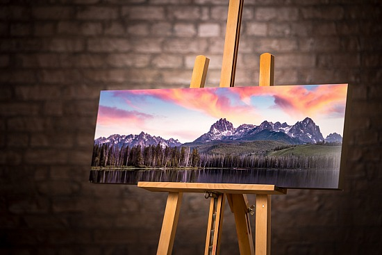 SAWTOOTH FRAMED METAL PRINT - 12x36 inches