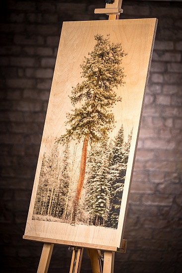 ONE TREE STANDS ALONE - WOOD  (20X40 IN)