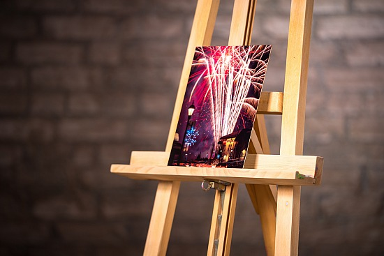 CARNIVAL FIREWORKS - METAL - MOUNTED  (8X10 IN)