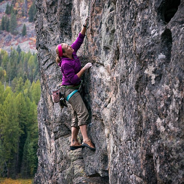 Rock Climbing and scrambling at local spots near McCall, Idaho in the Pacific Northwest of Idaho